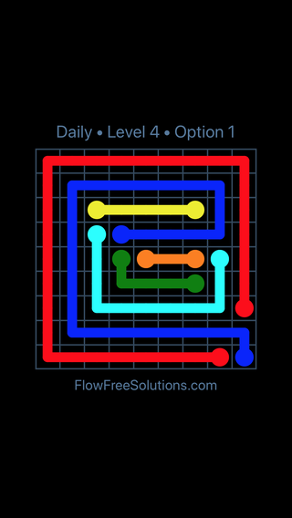 Solution and Answer to the Puzzle for Flow Date Thursday, April 21, 2016 Level 4