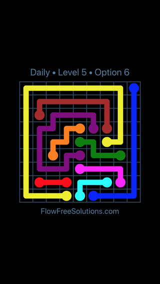 Solution and Answer to the Puzzle for Flow Date Thursday, April 21, 2016 Level 5