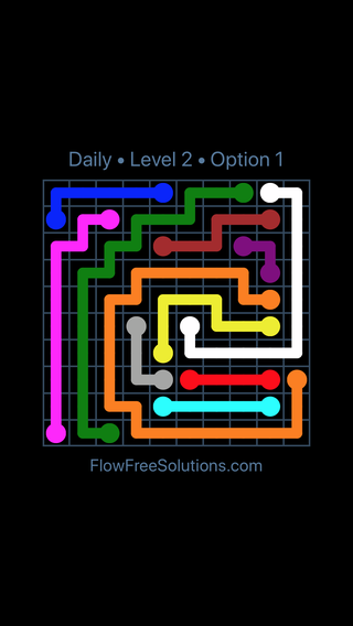 Solution and Answer to the Puzzle for Flow Date Friday, April 22, 2016 Level 2
