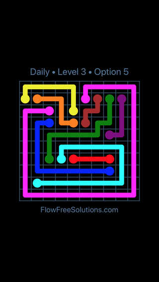 Solution and Answer to the Puzzle for Flow Date Friday, June 16, 2017 Level 3