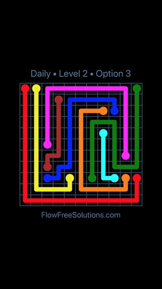 Solution and Answer to the Puzzle for Flow Date Saturday, April 23, 2016 Level 2