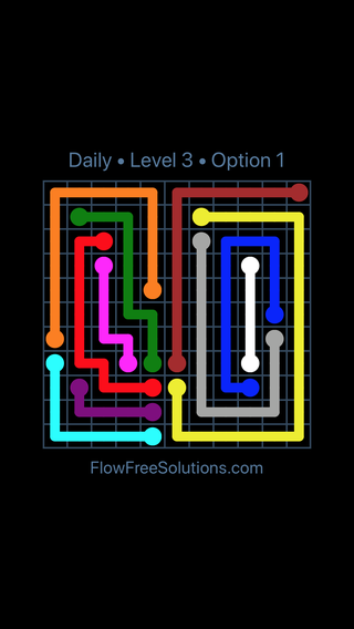 Solution and Answer to the Puzzle for Flow Date Saturday, July 16, 2016 Level 3