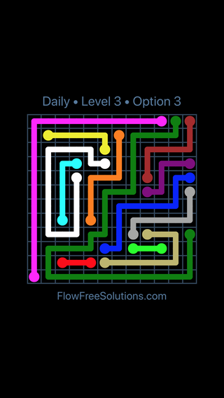 Solution and Answer to the Puzzle for Flow Date Sunday, November 4, 2018 Level 3