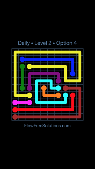 Solution and Answer to the Puzzle for Flow Date Friday, January 12, 2018 Level 2