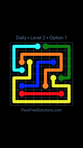 Solution and Answer to the Puzzle for Flow Date Monday, November 5, 2018 Level 2