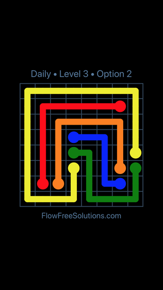 Solution and Answer to the Puzzle for Flow Date Monday, July 18, 2016 Level 3