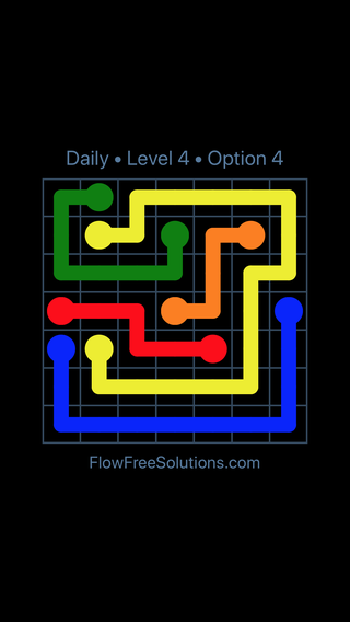 Solution and Answer to the Puzzle for Flow Date Monday, July 18, 2016 Level 4