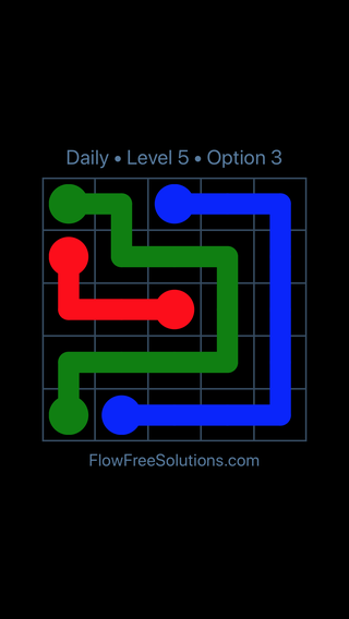 Solution and Answer to the Puzzle for Flow Date Monday, April 25, 2016 Level 5