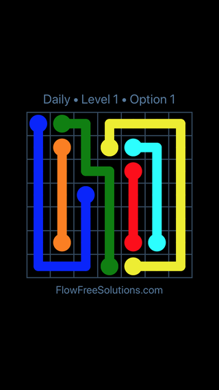 Solution and Answer to the Puzzle for Flow Date Tuesday, July 19, 2016 Level 1