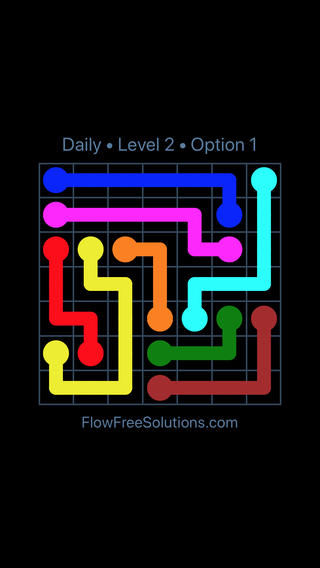 Solution and Answer to the Puzzle for Flow Date Tuesday, April 26, 2016 Level 2
