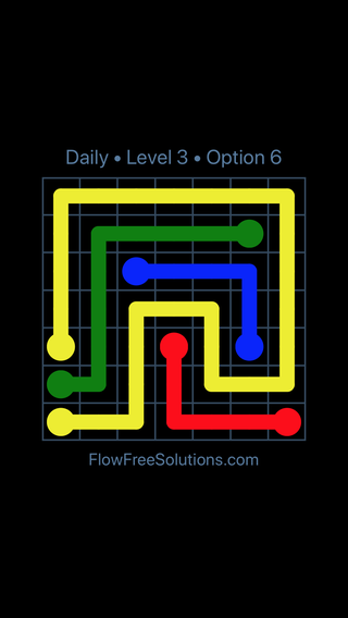 Solution and Answer to the Puzzle for Flow Date Tuesday, April 26, 2016 Level 3