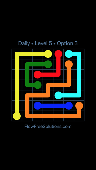 Solution and Answer to the Puzzle for Flow Date Tuesday, November 6, 2018 Level 5