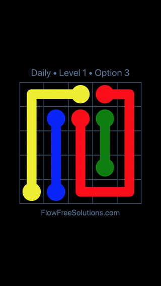 Solution and Answer to the Puzzle for Flow Date Wednesday, April 27, 2016 Level 1