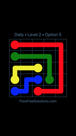 Solution and Answer to the Puzzle for Flow Date Wednesday, July 20, 2016 Level 2