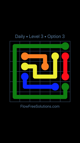 Solution and Answer to the Puzzle for Flow Date Wednesday, July 20, 2016 Level 3