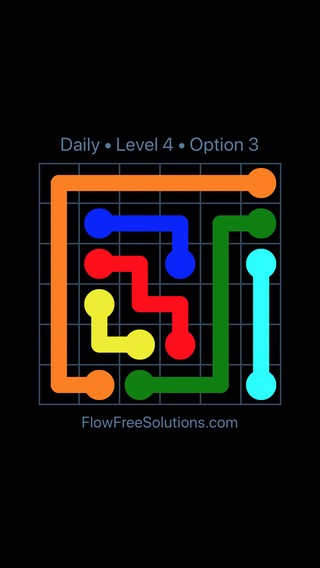 Solution and Answer to the Puzzle for Flow Date Wednesday, July 20, 2016 Level 4