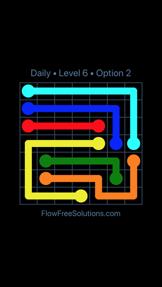 Solution and Answer to the Puzzle for Flow Date Wednesday, November 7, 2018 Level 6