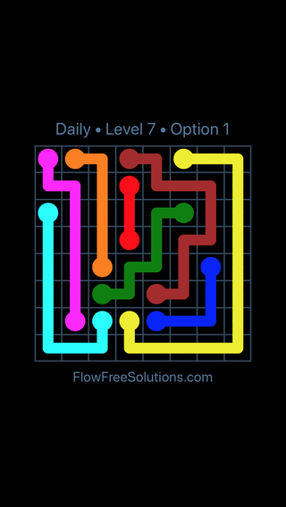 Solution and Answer to the Puzzle for Flow Date Wednesday, November 7, 2018 Level 7