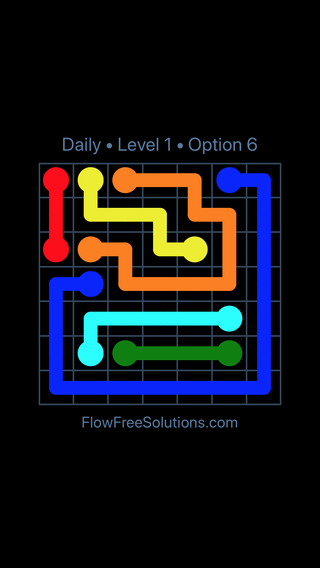 Solution and Answer to the Puzzle for Flow Date Thursday, July 21, 2016 Level 1