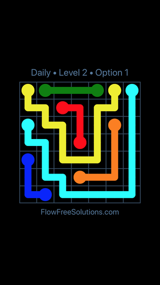 Solution and Answer to the Puzzle for Flow Date Thursday, July 21, 2016 Level 2
