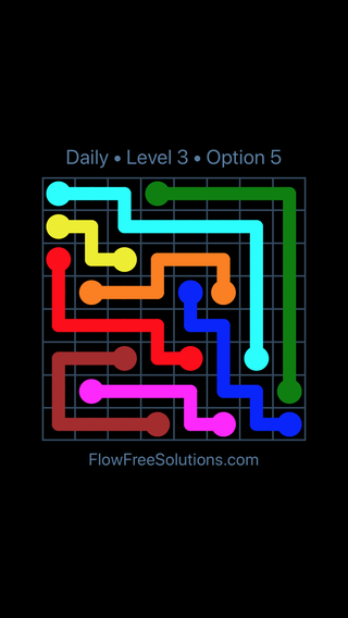 Solution and Answer to the Puzzle for Flow Date Thursday, July 21, 2016 Level 3