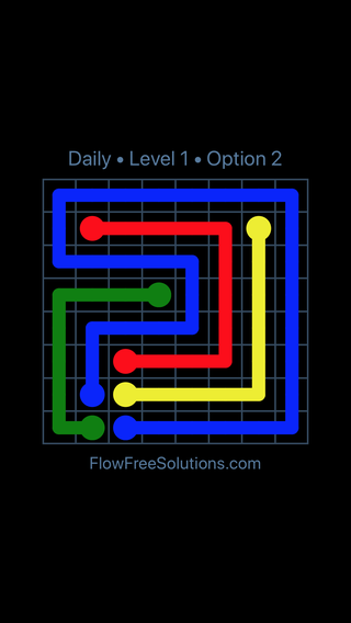 Solution and Answer to the Puzzle for Flow Date Friday, July 22, 2016 Level 1