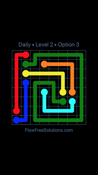 Solution and Answer to the Puzzle for Flow Date Friday, July 22, 2016 Level 2