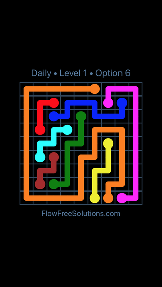Solution and Answer to the Puzzle for Flow Date Saturday, November 10, 2018 Level 1
