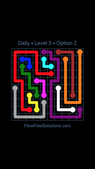 Solution and Answer to the Puzzle for Flow Date Saturday, July 23, 2016 Level 3