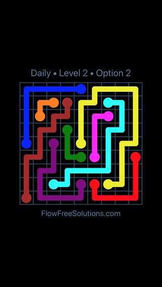 Solution and Answer to the Puzzle for Flow Date Sunday, May 1, 2016 Level 2