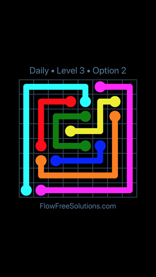 Solution and Answer to the Puzzle for Flow Date Sunday, July 24, 2016 Level 3