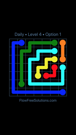 Solution and Answer to the Puzzle for Flow Date Sunday, May 1, 2016 Level 4