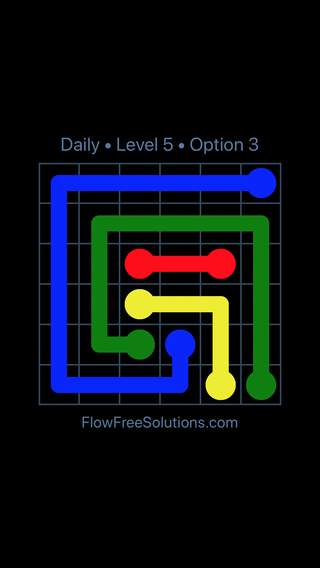 Solution and Answer to the Puzzle for Flow Date Sunday, May 1, 2016 Level 5