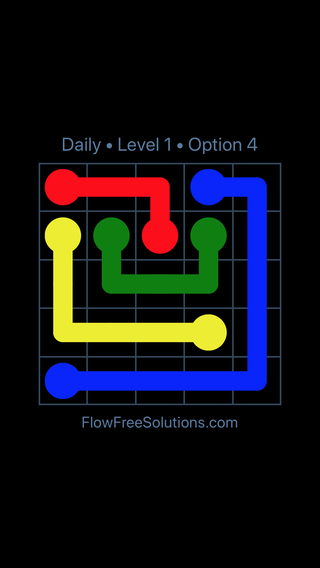 Solution and Answer to the Puzzle for Flow Date Monday, May 2, 2016 Level 1