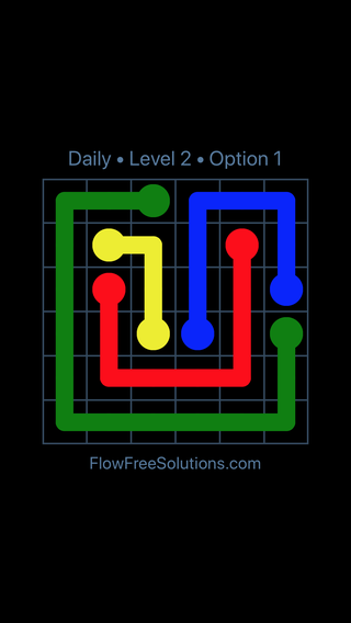 Solution and Answer to the Puzzle for Flow Date Monday, May 2, 2016 Level 2