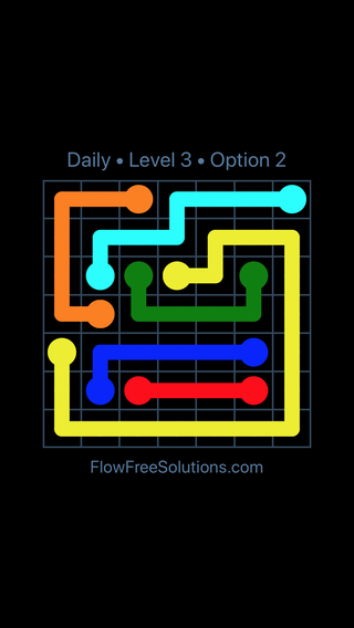 Solution and Answer to the Puzzle for Flow Date Monday, May 2, 2016 Level 3
