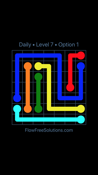 Solution and Answer to the Puzzle for Flow Date Monday, May 2, 2016 Level 7