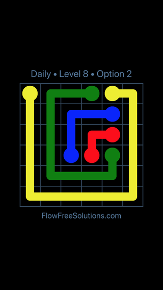 Solution and Answer to the Puzzle for Flow Date Monday, January 9, 2017 Level 8