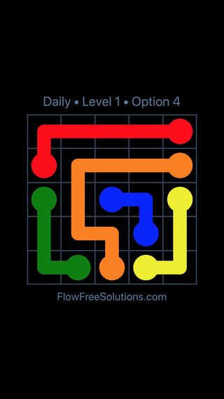 Solution and Answer to the Puzzle for Flow Date Tuesday, May 3, 2016 Level 1