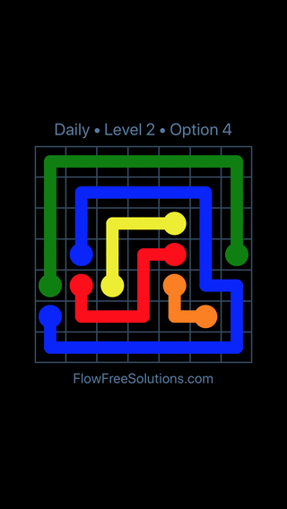 Solution and Answer to the Puzzle for Flow Date Tuesday, May 3, 2016 Level 2