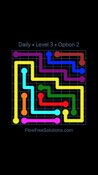 Solution and Answer to the Puzzle for Flow Date Tuesday, May 3, 2016 Level 3