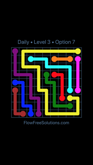 Solution and Answer to the Puzzle for Flow Date Tuesday, September 15, 2020 Level 3