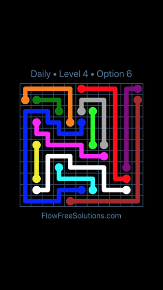 Solution and Answer to the Puzzle for Flow Date Tuesday, May 3, 2016 Level 4