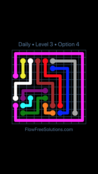 Solution and Answer to the Puzzle for Flow Date Wednesday, January 11, 2017 Level 3