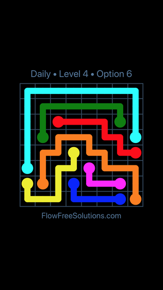Solution and Answer to the Puzzle for Flow Date Wednesday, July 27, 2016 Level 4