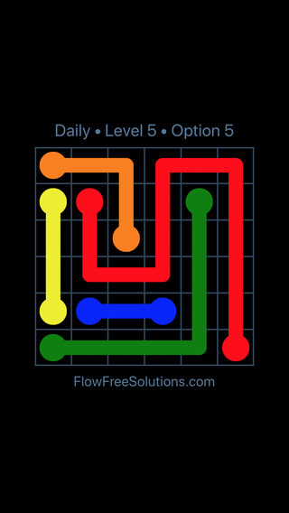 Solution and Answer to the Puzzle for Flow Date Wednesday, May 4, 2016 Level 5