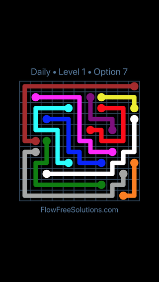 Solution and Answer to the Puzzle for Flow Date Saturday, April 3, 2021 Level 1