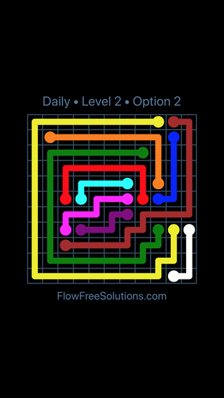 Solution and Answer to the Puzzle for Flow Date Saturday, March 12, 2016 Level 2