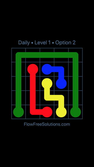 Solution and Answer to the Puzzle for Flow Date Thursday, May 5, 2016 Level 1