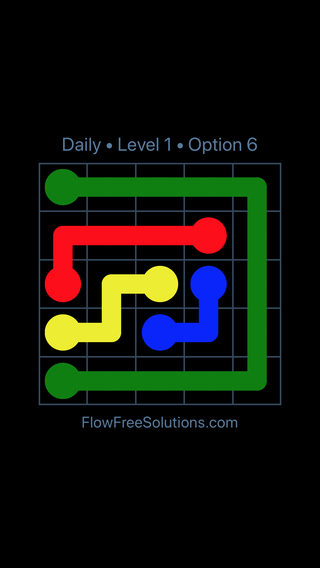 Solution and Answer to the Puzzle for Flow Date Thursday, July 28, 2016 Level 1